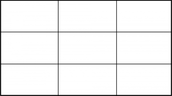 Пустая таблица или сетка 3 на 3