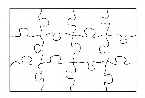 Пазл сетка.Трафареты, шаблоны для вырезания пазлов лобзиком.